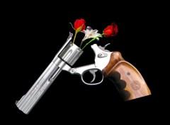 pistol flower holder