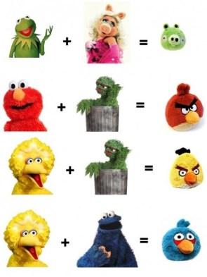 sesame street – angry birds