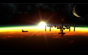 shuttle docks with ISS