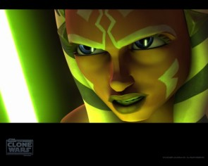 Ahsoka Tano – green laser sword thing