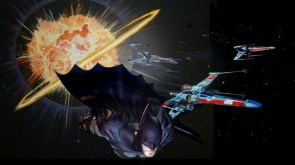 batman and x-wings after the death star fight
