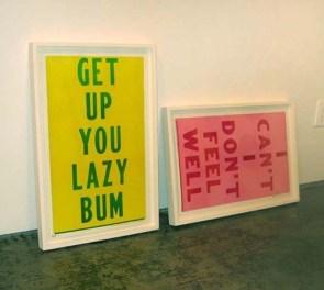 get up you lazy bum