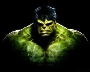 hulk is glowing
