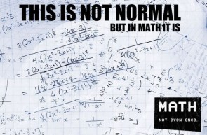 math – not even once again