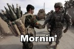 military morning