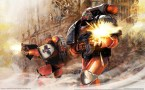 space marines on the move