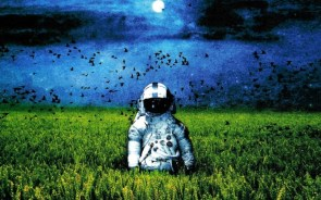 spaceman in field