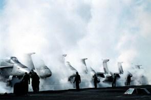 steamy launch deck