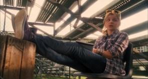 Chloe Moretz in plaid