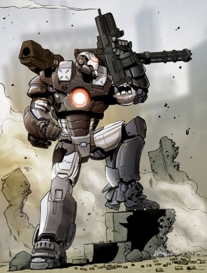 War Machine Pin-up by artist Jon Davis-Hunt