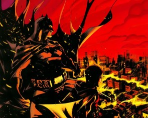 batman and robin watch gotham burn