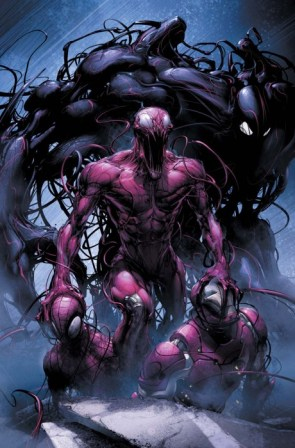 carnage and venom vs spider-man and iron man