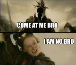 come at me bro – I AM NO BRO