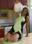 messy kitchen girl