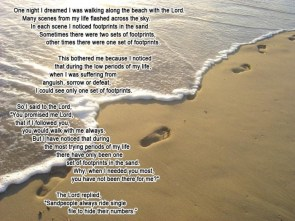 one set of footprints