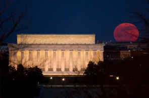 red moon over washington DC