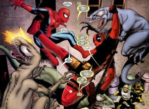 spider-man and ninja spider-man vs venom raptors