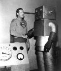 superman and robot