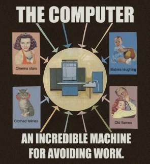 the computer – an incredible machine for avoiding work