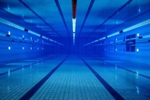 under pool
