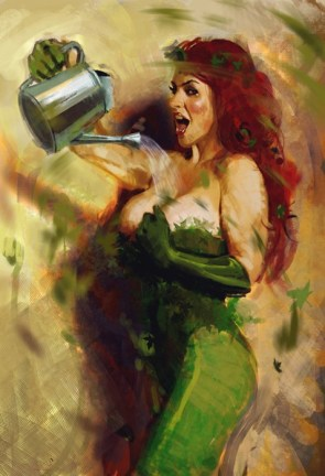 watering the poison ivy