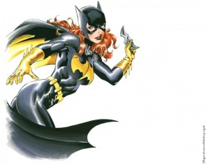 batgirl – throwing a batarang