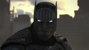 batman in his bat armor