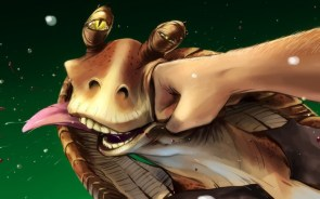 jar jar gets a fist