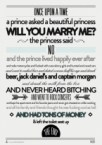 once upon a time – a prince asked a princess will you marry me