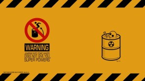 warning – jumping into toxic waste does not give you super powers