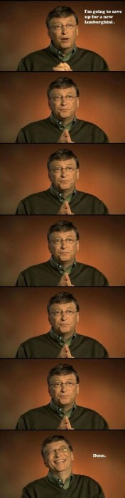 Bill Gates Saving for car