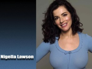Nigella Lawson in blue