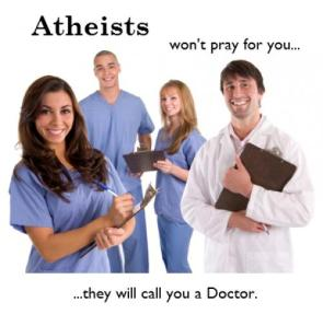 atheists wont pray for you