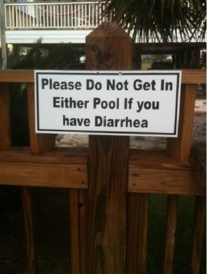 diarrhea pool