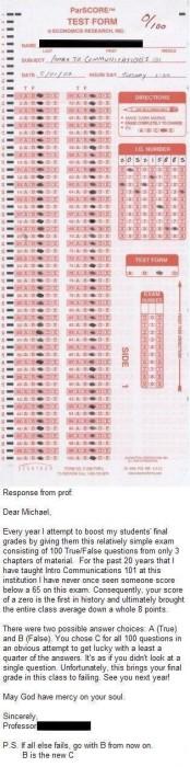 exam fail
