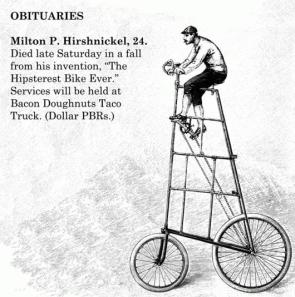 hipster obituaries