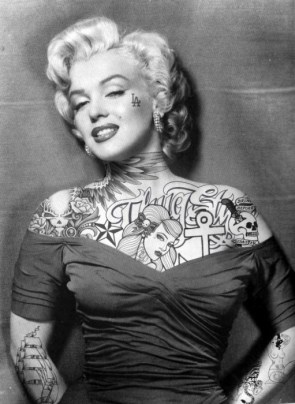 marilyn monroe all inked up