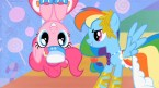 pinkie pie and rainbow dash