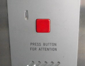 press button for attention