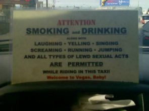 smoking and drinking permitted