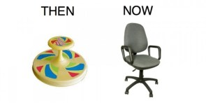 then vs now – seating