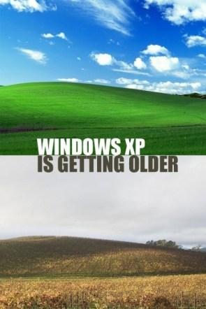windows xp is getting older