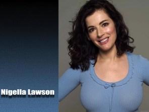 Nigella Lawson in blue