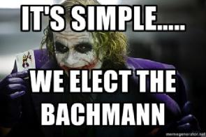 We elect the bachmann
