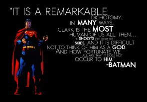 batman quote on superman
