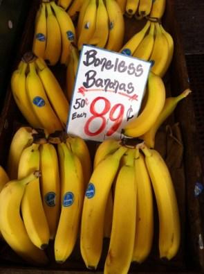 boneless bananas