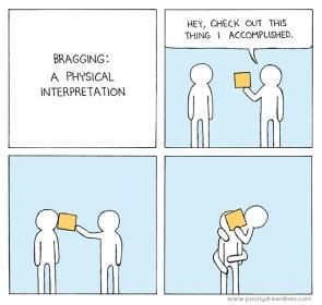 bragging – a physical interpretation