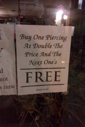 buy one for 2x the price, get one free