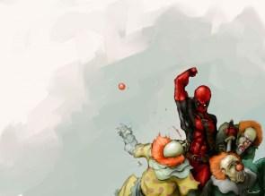 deadpool vs clowns