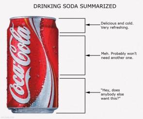drinking soda summarized